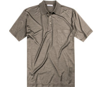 Polo-Shirt Polo Seiden-Jersey meliert