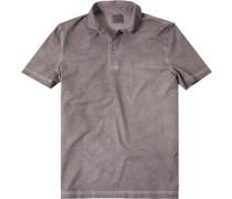 Herren Polo-Shirt Baumwoll-Jersey hellbraun