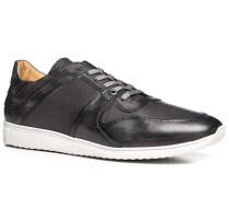 Schuhe Sneaker Leder grigio-azzurro