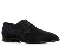 Schuhe Derby Veloursleder dunkelblau