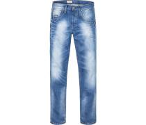 Herren Jeans Regular Fit Baumwolle jeansblau