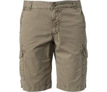Hose Cargo-Shorts Baumwolle khaki