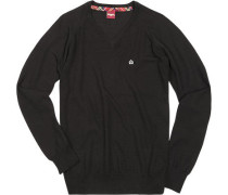 V-Pullover Wolle
