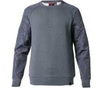 Herren Sweatshirt Baumwoll-Mix mittelgrau