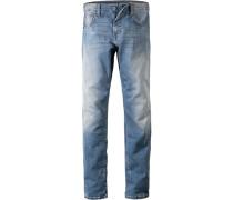 Blue-Jeans Comfort Fit Baumwolle hellblau