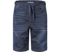 Herren Hose Bermudas Baumwoll-Stretch dunkelblau