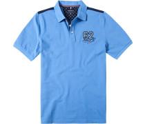 Herren Polo-Shirt Polo Baumwoll-Piqué himmelblau