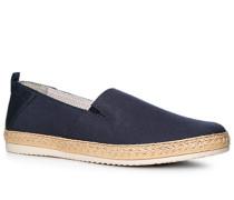 Schuhe Espandrilles Canvas-Leder RESPIRA® dunkelblau