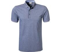 Polo-Shirt Polo Body Fit Baumwoll-Piqué dunkelblau meliert