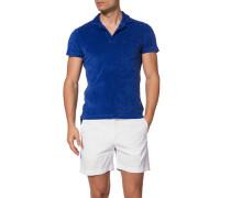 Polo-Shirt Polo, Baumwoll-Frottee, azurblau