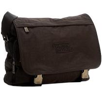 Tasche Messenger Bag, Microfaser, dunkelbraun