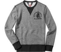 Herren Pullover Sweater Baumwoll-Mix grau meliert