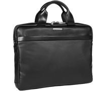 Herren Tasche  Laptop Bag Microfaser schwarz