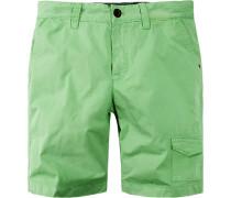 Hose Bermudashorts Baumwolle hellgrün