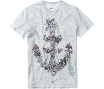 T-Shirt, Baumwolle, graugrün