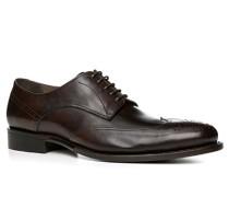 Herren Schuhe Derby Kalbleder dunkelbraun braun,braun
