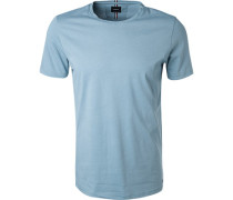 T-Shirt, Baumwolle, eisblau meliert