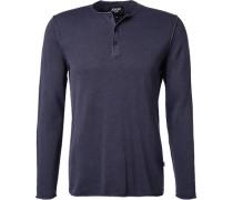 Pullover Baumwolle tintenblau meliert