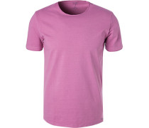 T-Shirt, Body Fit, Baumwolle, violett