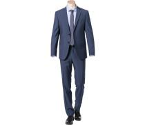 Anzug Modern Fit Schurwolle -grau meliert