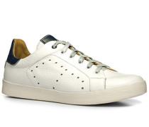 Herren Schuhe Sneaker Leder weiß weiß,beige