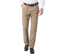Herren Blue-Jeans Regular Fit Baumwoll-Stretch camel beige