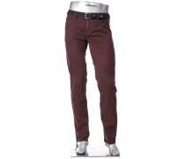 Blue-Jeans Pipe, Regular Slim Fit, Baumwolle T400®, bordeaux