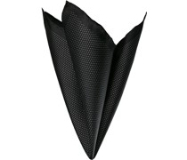 Accessoires Einstecktuch Seide schwarz gepunktet