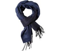 Schal Kaschmir jeansblau-schwarz