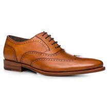 Schuhe Budapester, Kalbleder, cognac