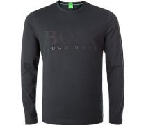 T-Shirt Longsleeve, Regular Fit, Baumwolle, navy