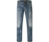 Herren Jeans Classic Fit Baumwoll-Stretch jeansblau schwarz
