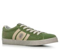 Schuhe Sneaker Veloursleder kiwigrün
