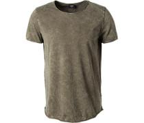 T-Shirt, Baumwolle, oliv