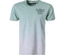 T-Shirt, Baumwolle, mint meliert