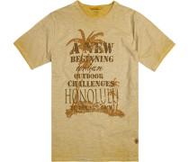 T-Shirt Baumwolle -messing meliert