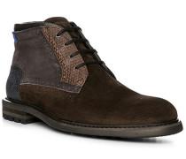 Schuhe Schnürstiefeletten Veloursleder braun