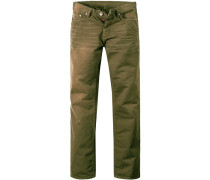 Herren  Jeans Hammett Regular Fit Baumwolle moosgrün