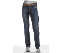 Herren Jeans Regular Slim Fit Superfit denim dunkelblau blau,blau