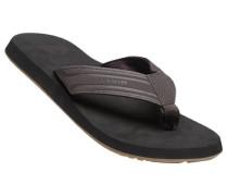 Herren Schuhe Zehensandalen Kunststoff dunkelbraun