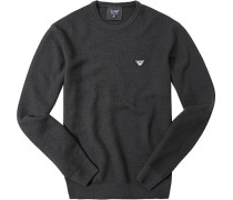 Pullover Wolle antharzit meliert