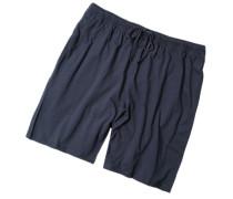 Schlafanzug Pyjamashorts, Baumwoll-Jersey, dunkelblau