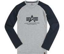 T-Shirt Longsleeve Baumwolle navy