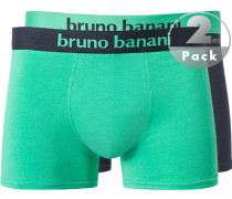 Unterwäsche Trunks Baumwoll-Stretch aquamarin-navy