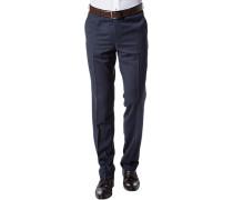 Hose Modern Fit Schurwolle Super120 dunkelblau meliert