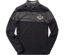 Herren Polo-Shirt Polo Baumwoll-Jersey marine blau