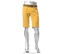 Hose Bermudashorts Lou-K Regular Slim Fit Baumwolle maisgelb
