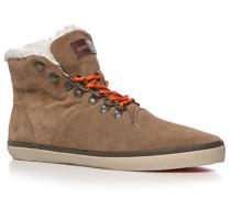 Schuhe Schnürstiefeletten Veloursleder warm gefüttert