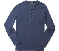 T-Shirt Longsleeve Baumwolle pastellblau