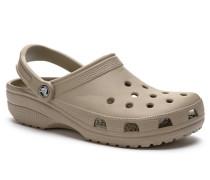 Schuhe Pantoletten, Gummi, khaki